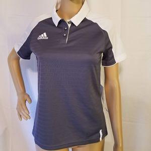 Adidas coaches polo Shirt new Gray womens Small